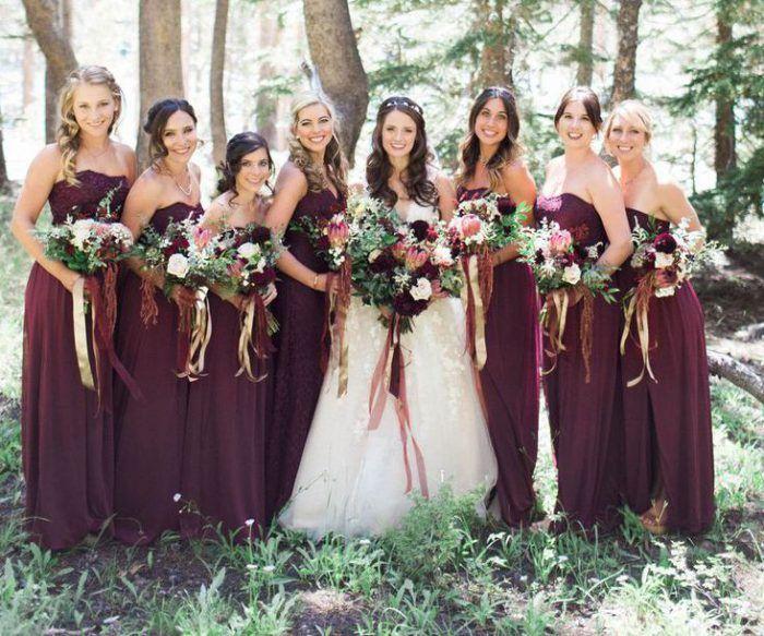 Платья для подружек невесты 2018  66d9094b9a66f