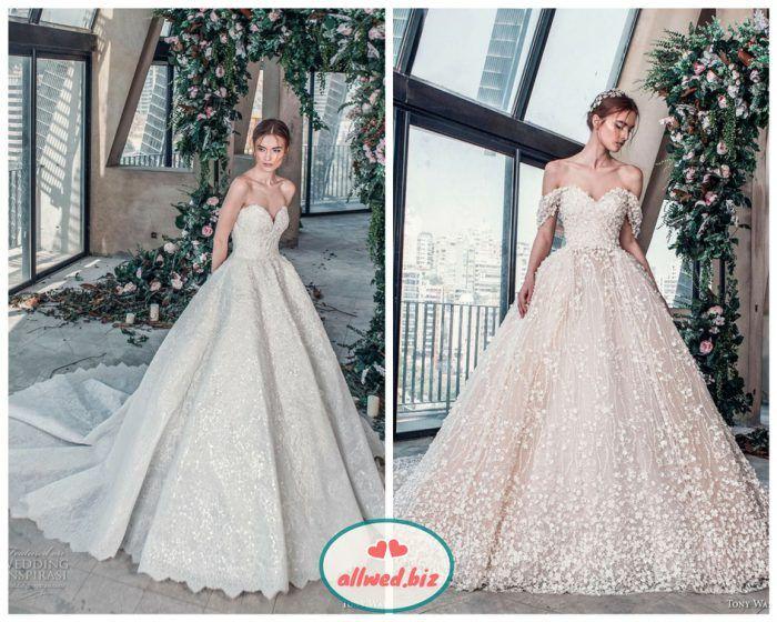 f48686afce86e6 До речі, вузькі бретельки на весільній сукні — ще один модний тренд.