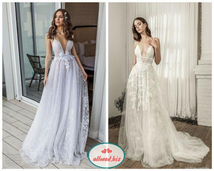 f910bfb3192111 Спина сукні, всупереч традиціям, теж може бути відкритою. Такі моделі  весільних суконь точно сподобаються впевненим в собі нареченим.