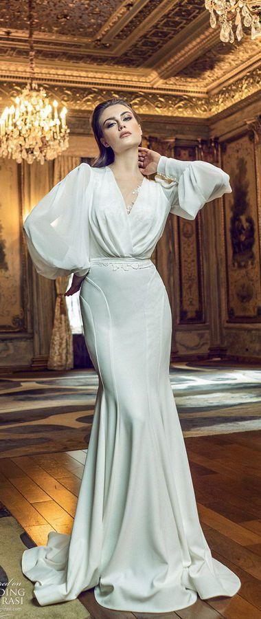 Свадебные платья с длинными воздушными рукавами. Шикарные и современные, традиционные и элегантные, новая коллекция для невесты весна / лето 2020 от Адама Зоара. Adam Zohar Spring/Summer 2020