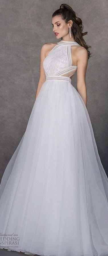 Великолепное свадебное платье пышного силуэта, полное женственной красоты. Чувственный лиф с вырезом халтер. Valentini Spose Spring 2020 Wedding Dresses