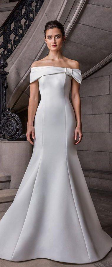 Красивое свадебное платье цвета айвори силуэта «русалка» в стиле Голливуда. Sareh Nouri Spring 2020 Wedding Dresses