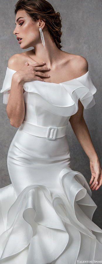 Изысканное свадебное платье с воланами в голливудском стиле. Valentini Spose Bridal Spring 2020