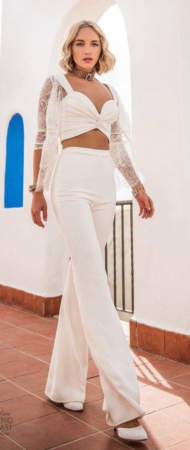 Свадебный костюм для невесты: стильно и модно. Jillian Sposa 2020 Wedding Dresses